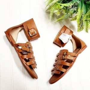 🎉NWOB Joe's Brown Leather Gladiator Ankle Sandals